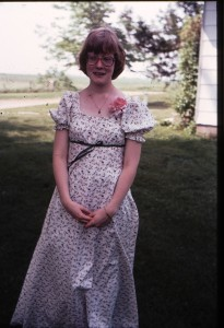 Lee Ann at the end of 8th grade, May 1977